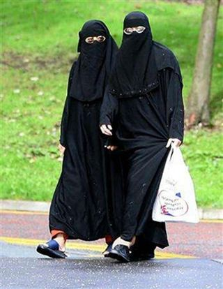 Women in burqa