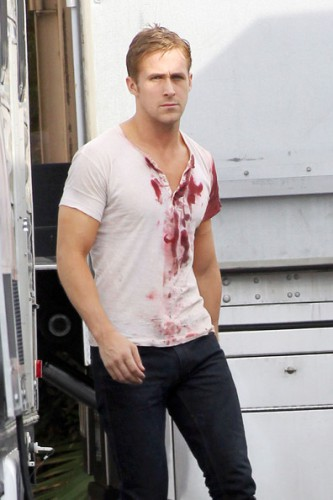 Gosling bloodied