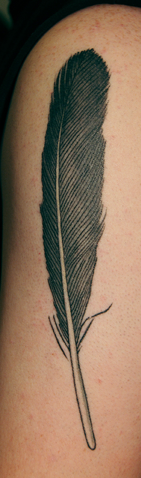 Archy-feather-tattoo