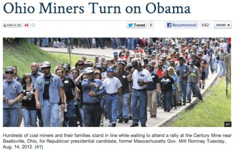 Miners turn on Obama?