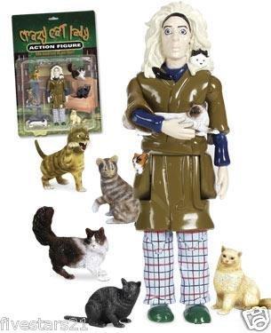 Crazy cat lady toy