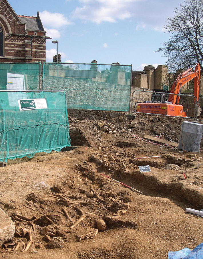 A mass grave at St. John's College, Oxford