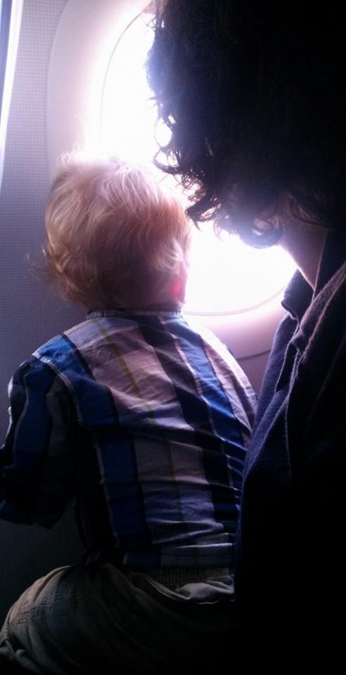 O's first plane flight