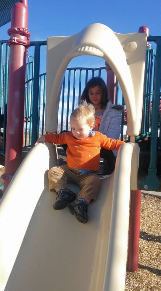 O at a playground in Colorado
