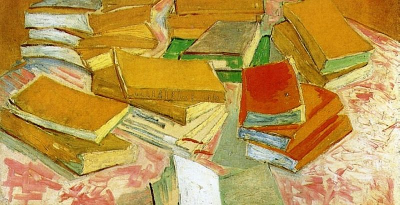 %22Still Life-French Novels%22 by Van Gogh