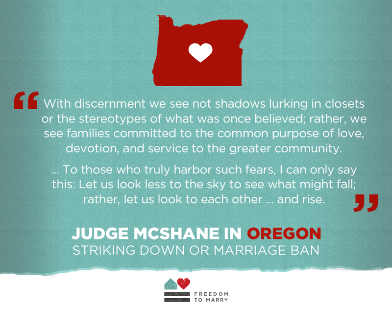Oregon allows same-sex marriage