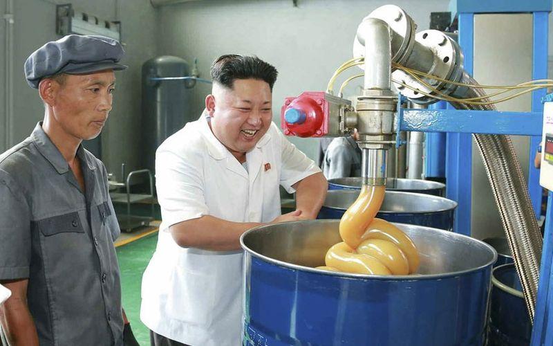 Kim Jong-un visits the Chonji Lubricant Factory