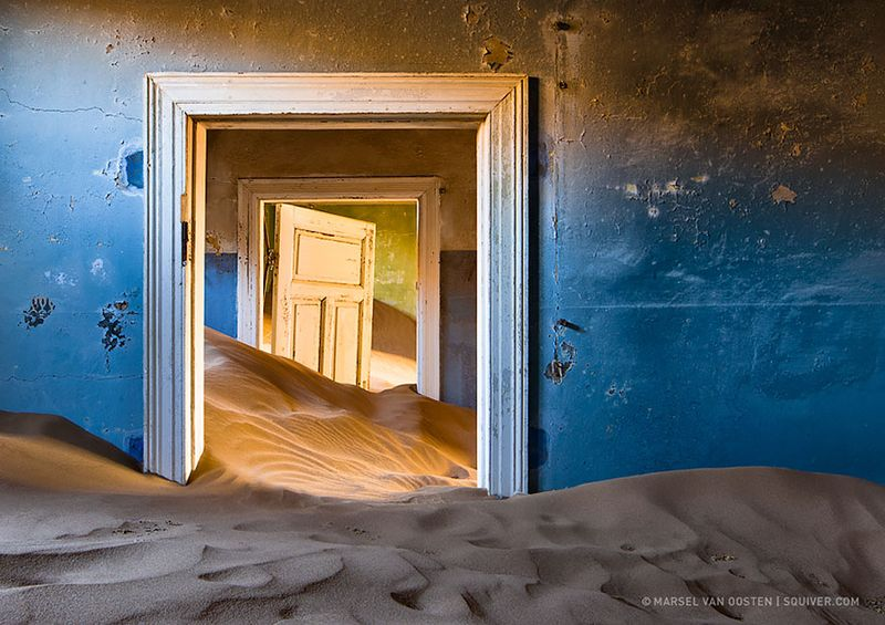 Abandoned house in mining town, Namibia
