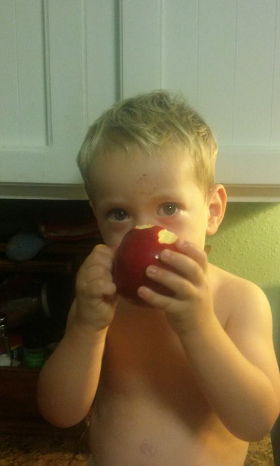 Boy and apple 5