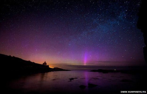 Aurora borealis, Howick, Northumberland, England