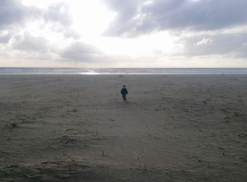 At Seaside Beach