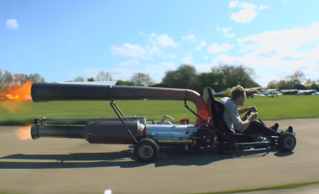 Jet-powered-go-kart