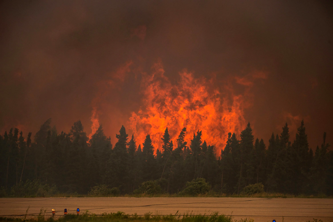 Forest fire in Canada