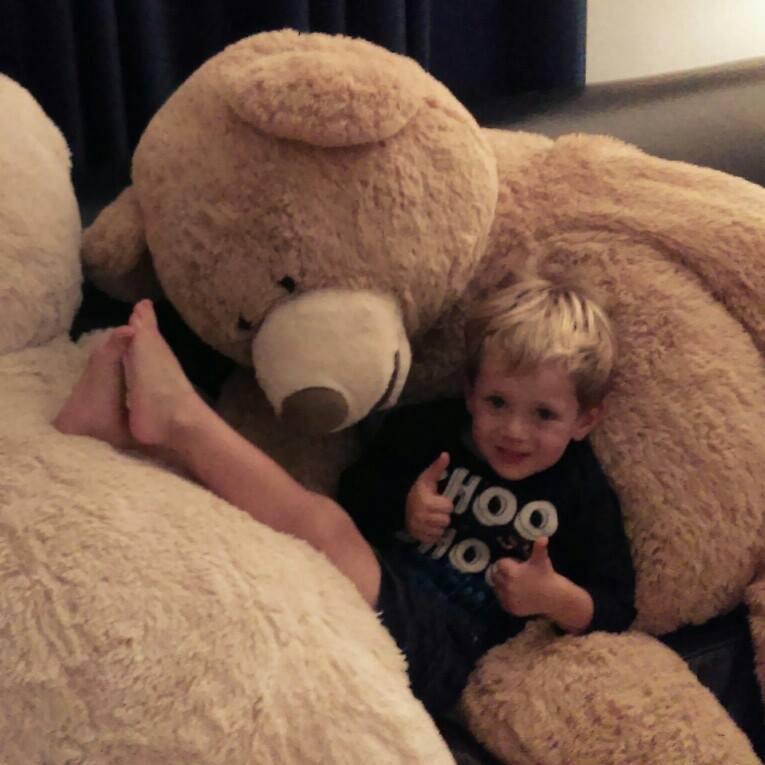 Ollie and bear