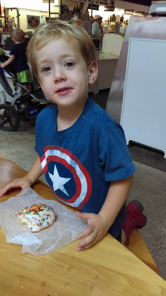 Oliver's first Achenbachs doughnut