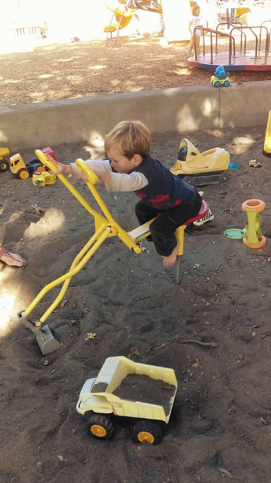 Digging with a digger