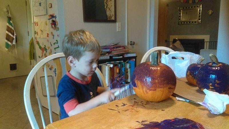 Decorating pumpkins 1
