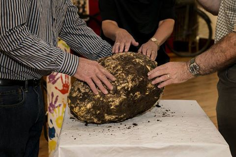 Twenty-pound hunk of two thousand year-old butter, from Irish bog