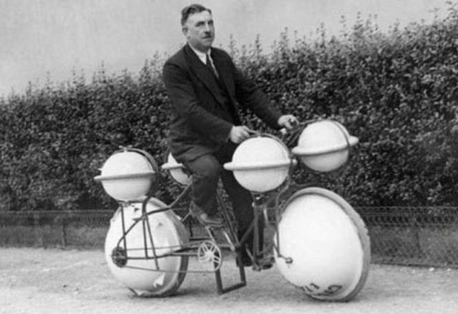 Amphibious bicycle, 1932.