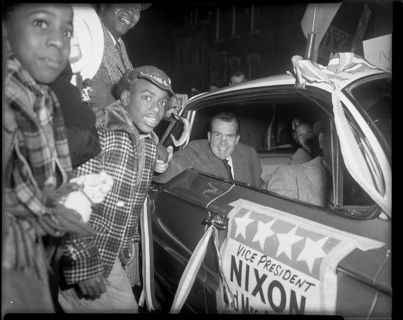 Nixon, in Pittsburgh, October 1960.