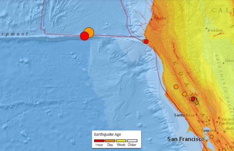 6.5 earthquake off Pacific Coast
