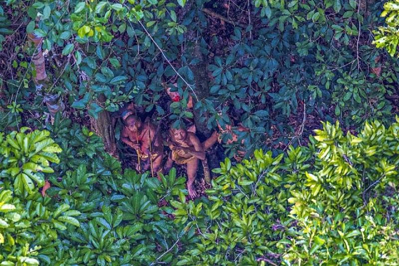 Unknown tribe on Brazilian-Peruvian border.