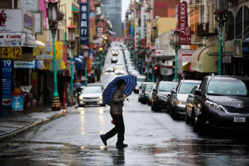Raining in San Francisco