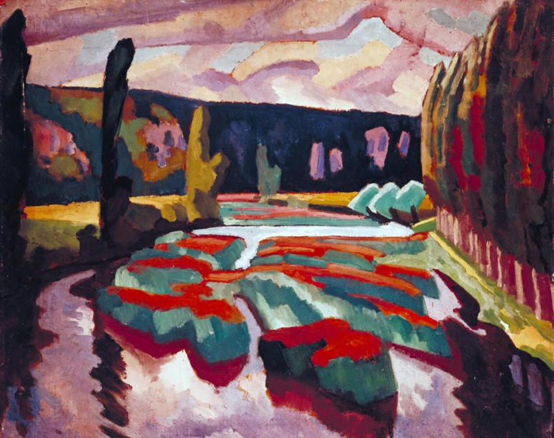 Roger Fry, River with Poplars circa 1912