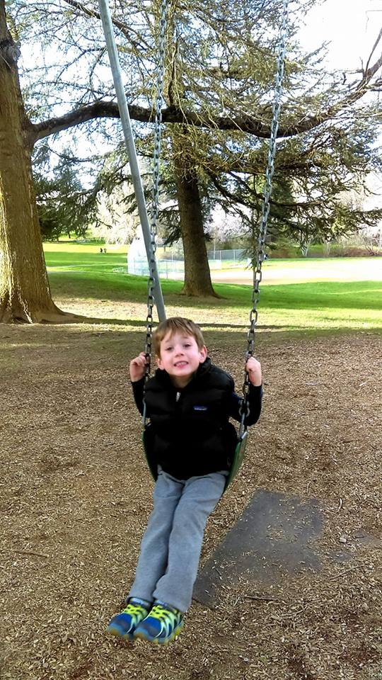 A boy and his swing