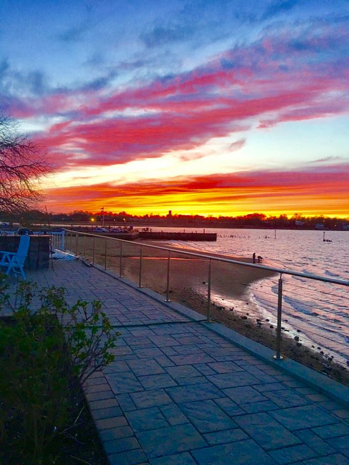 Patriotic Keyport sunset