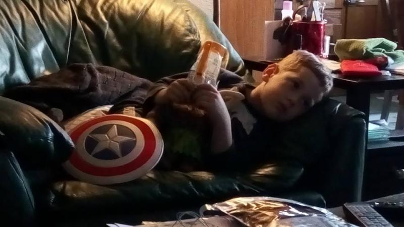 Captain America at leisure