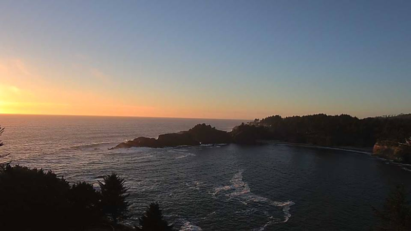Sunset  south of Depoe Bay