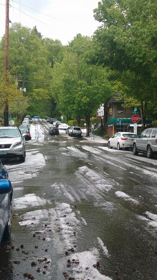 Hailstorm in Portland