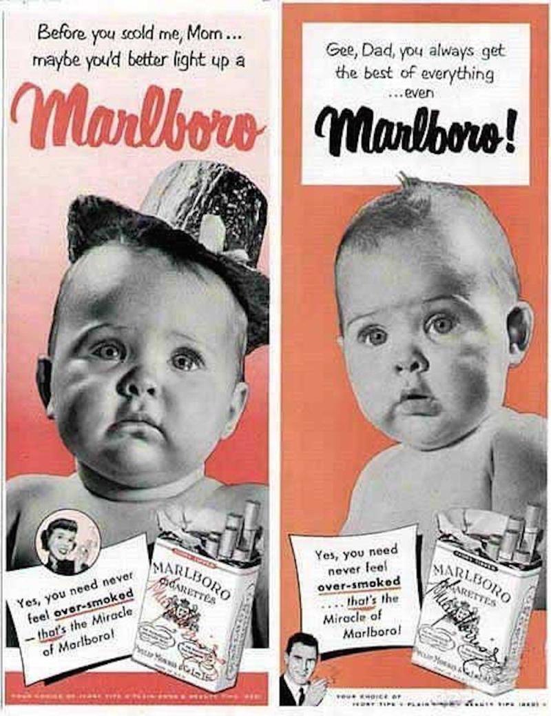 Babies sell marlboros