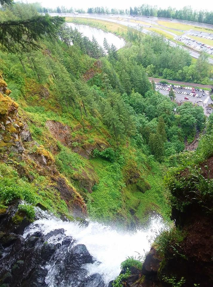 Multnomah Falls  from above