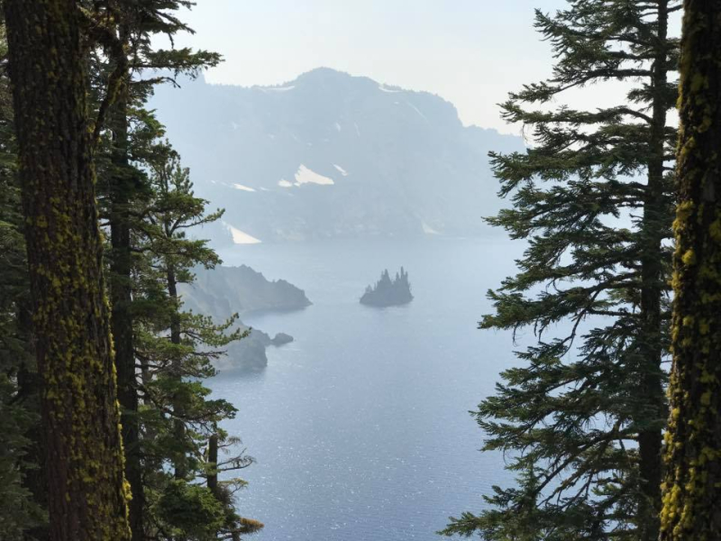 Haze from smoke at Crater Lake