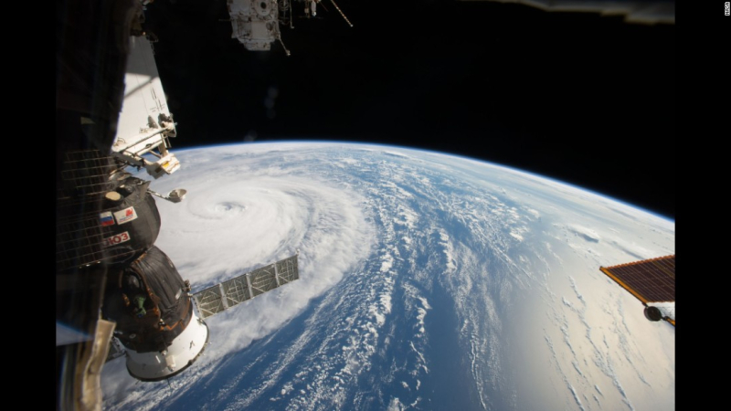 Super typhoon  from outer space