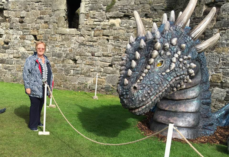 Debbie  with dragon