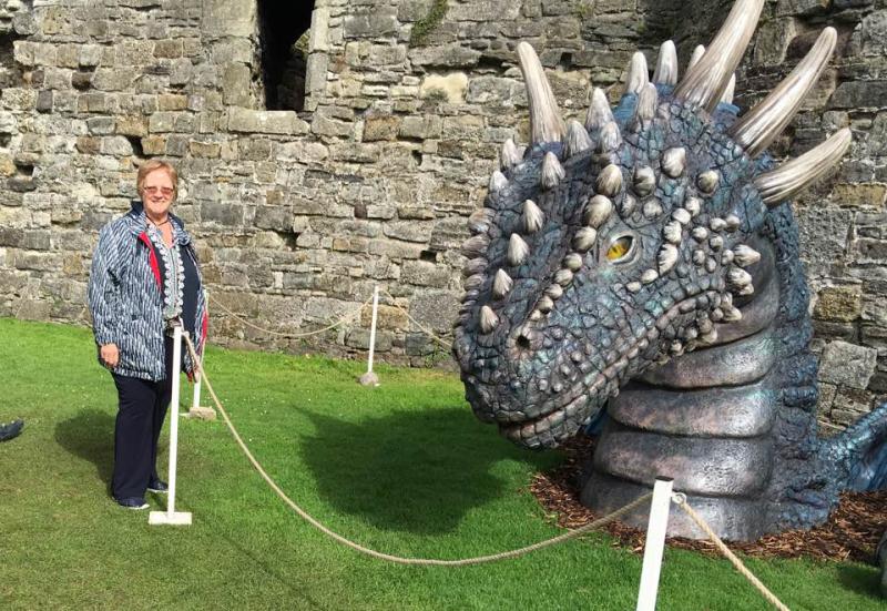 Debbie  with dragon