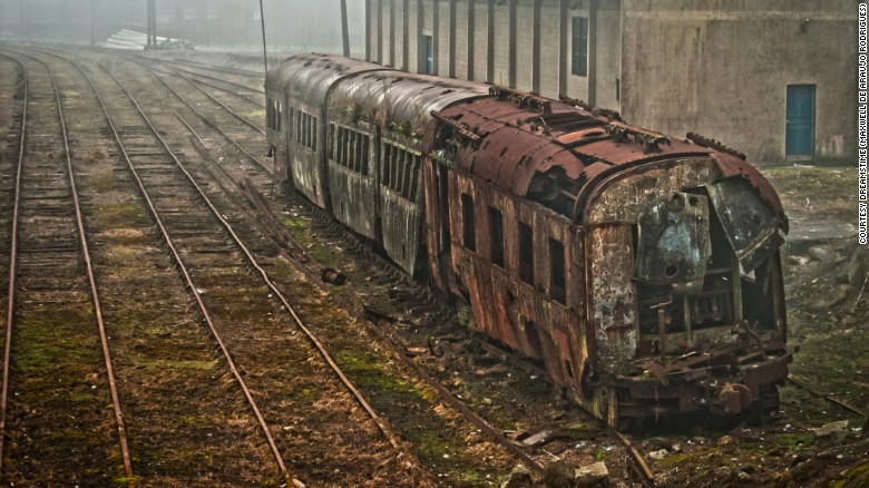 Abandoned passenger train in Brazil