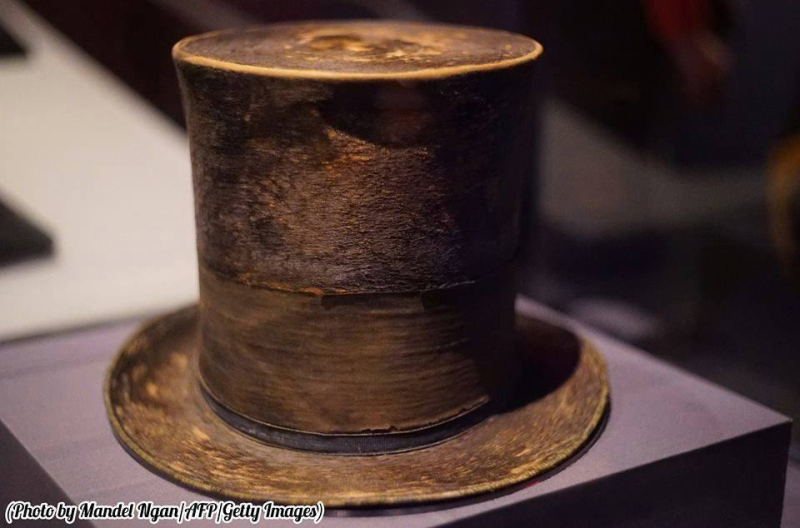 Lincoln's top hat the night he died