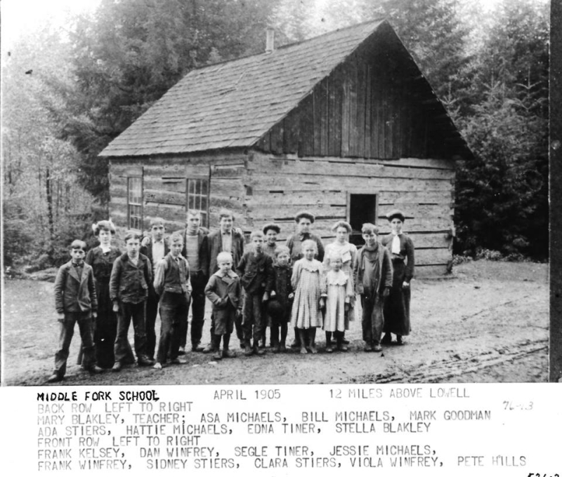 Middle Fork School  1905