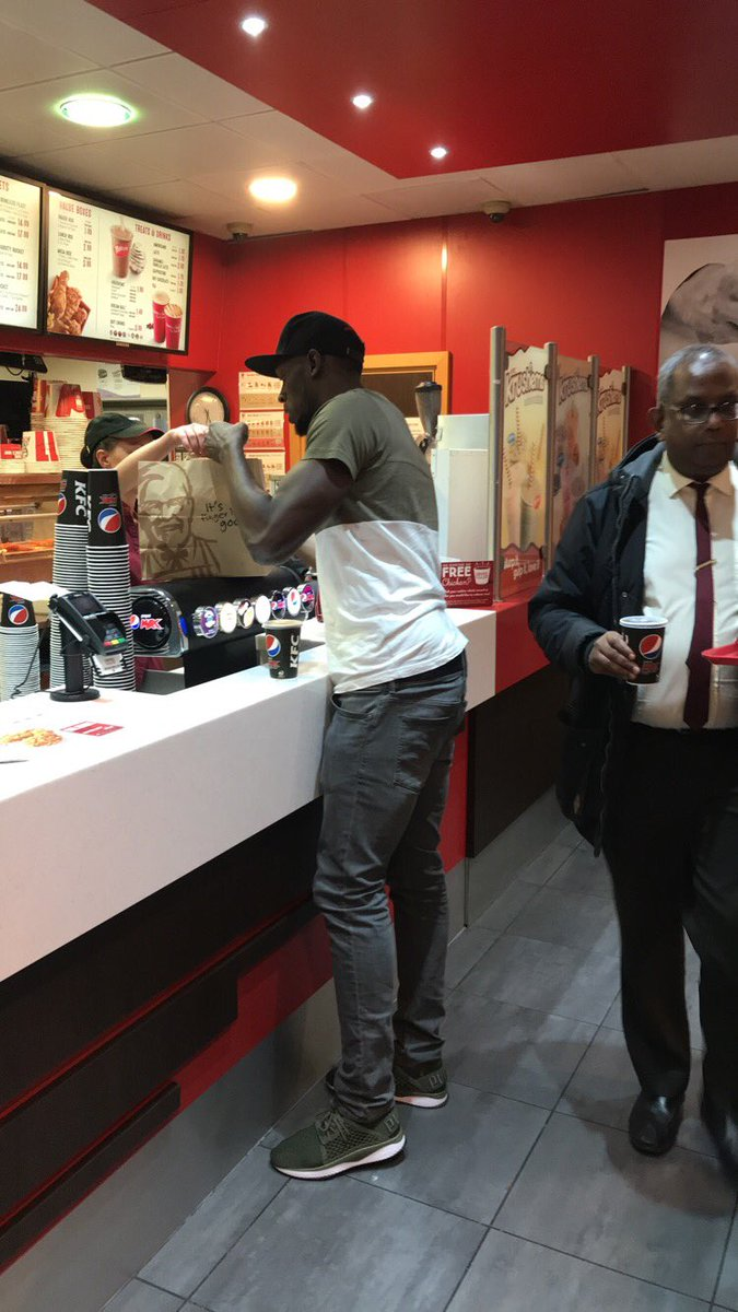 Usain Bolt  at the KFC in Bristol  England