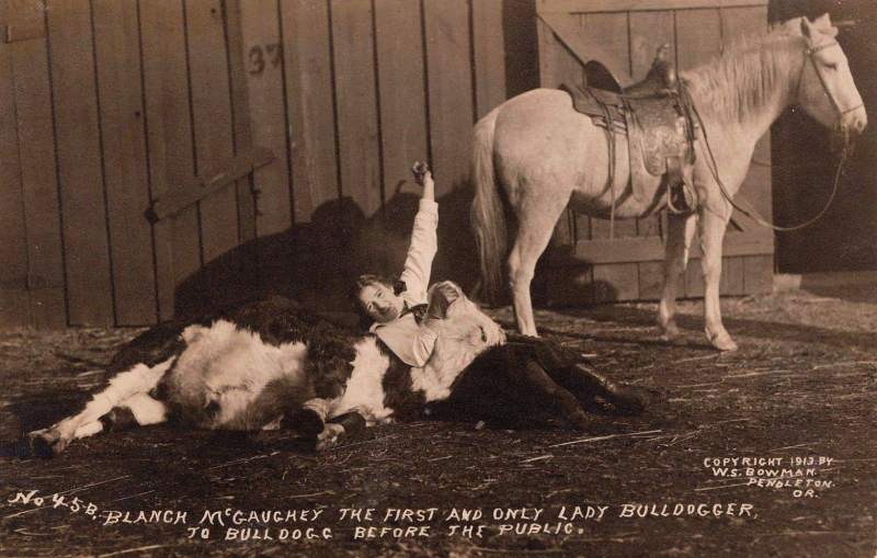 The first and only lady bulldogger