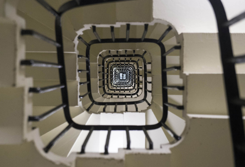 Stairway inside Big Ben  London