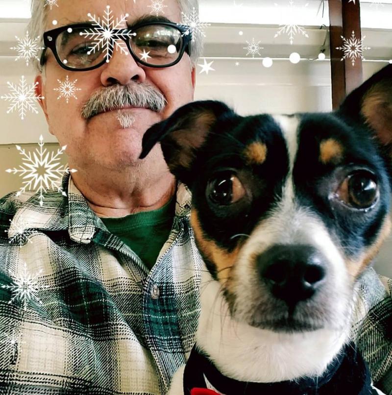 Bill and dog