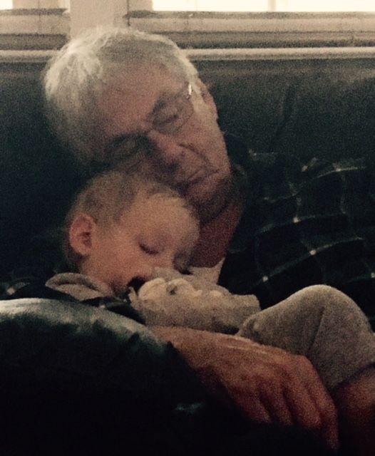 Lou and grandchild