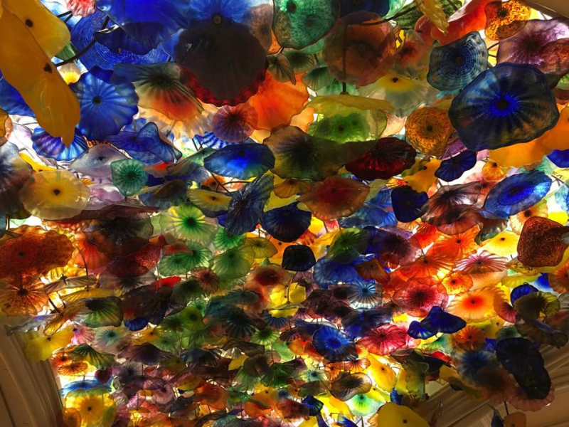 Ceiling in Bellagio Hotel  Las Vegas
