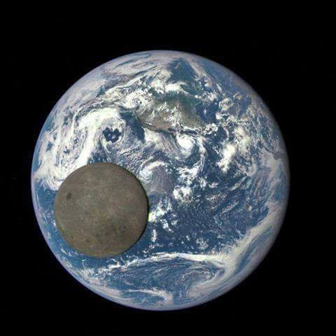 Dark side of the moon  and earth