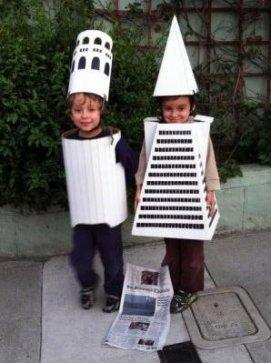 Children as Coit Tower and Transamerica Building